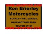 Ron Brieley Motorcycles Bolton Dealer Decals Transfers  DDQ5